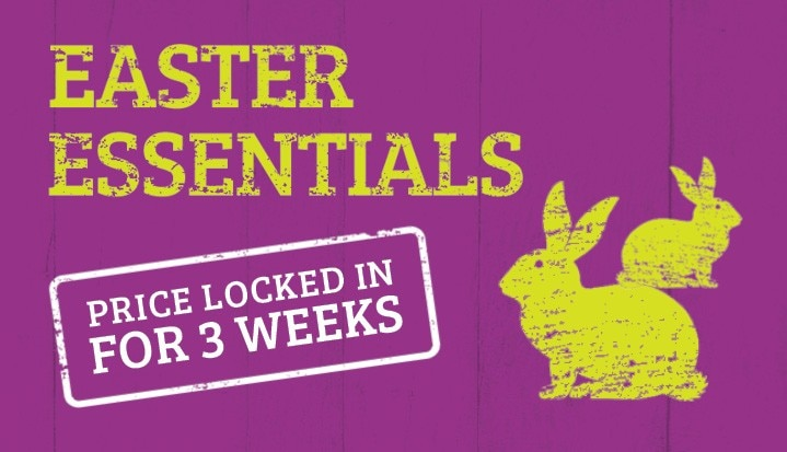 Easter essentials. Price locked in for 3 weeks.