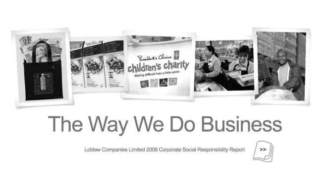 Cover of report titled 'The Way We Do Business""