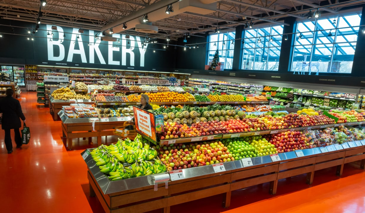 View of Loblaws produce section.