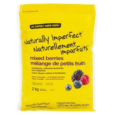 Package of naturally imperfect mixed berries
