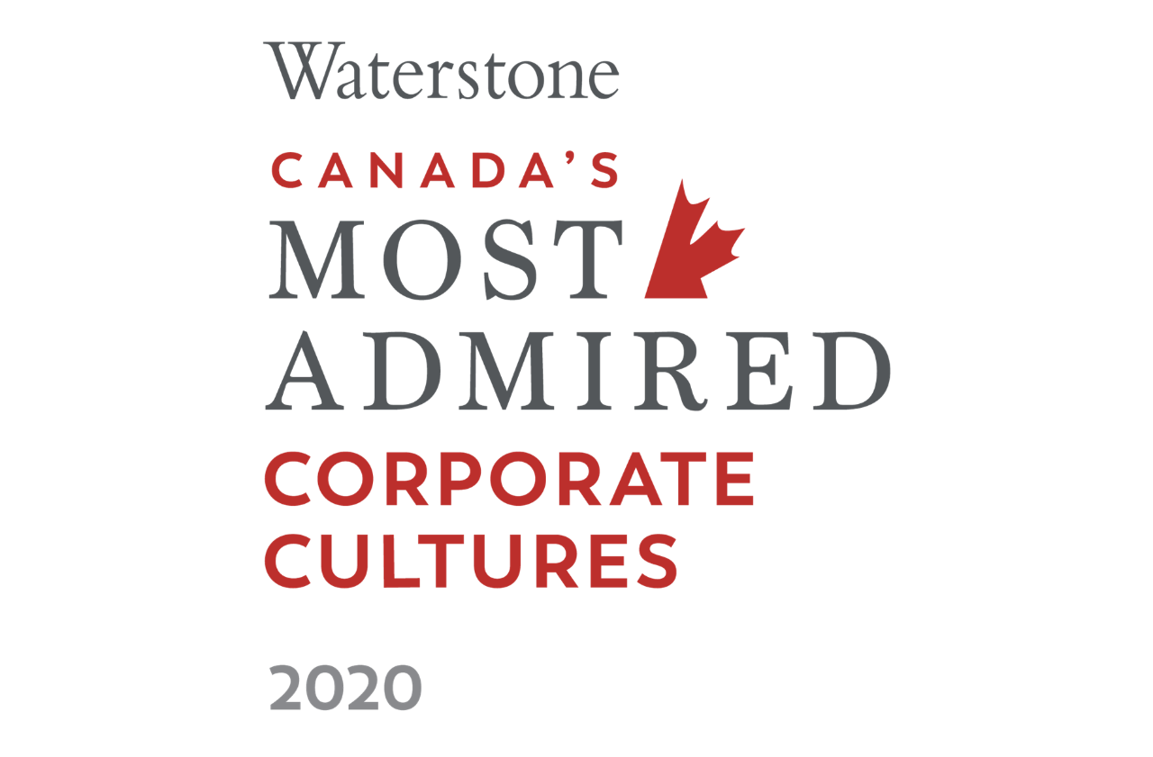 Waterstone Canada's most admired corporate culture logo