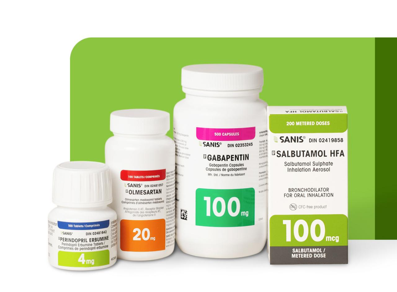 3 flacons et une boîte de pilules