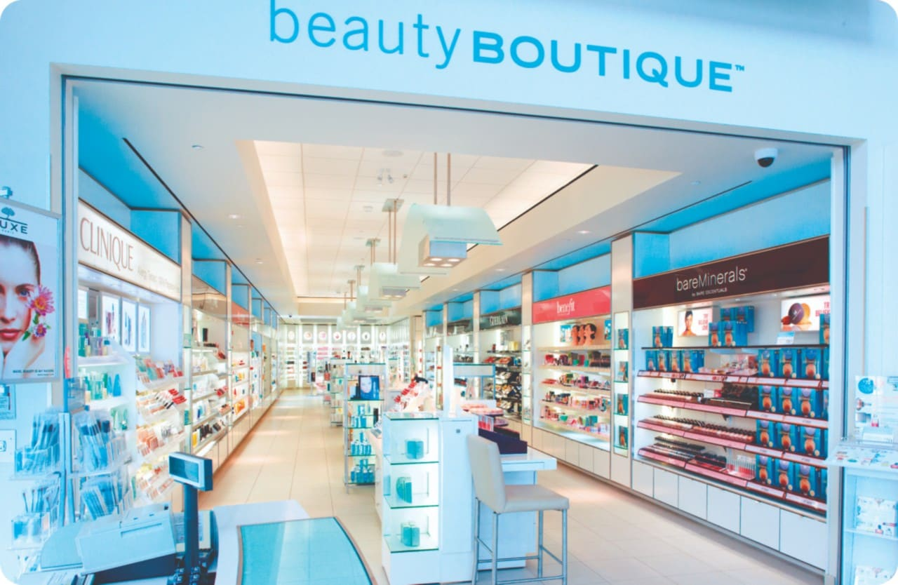 Looking inside a beauty boutique store